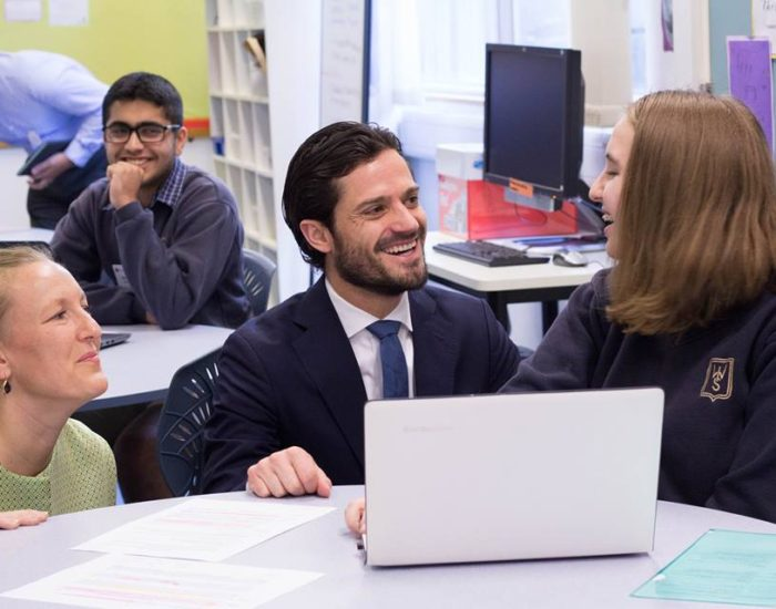 His Royal Highness Prince Carl Philip, Duke of Värmland, came to ESF West Island School