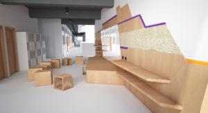 Interior design of Sha Tin decant campuses