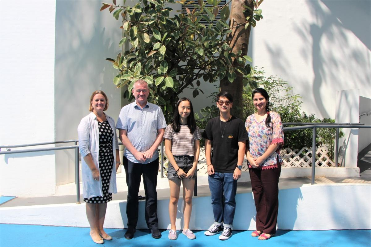 """Tsz Yan Lee, """"Top in the World"""" in International Mathematics and """"Top in Hong Kong"""" in Co-Ordinated Sciences (Double Award) and Cody Yik Lam Lau, """"Top in Hong Kong"""" in English as a Second Language (Speaking Endorsement), ESF Sha Tin College"""